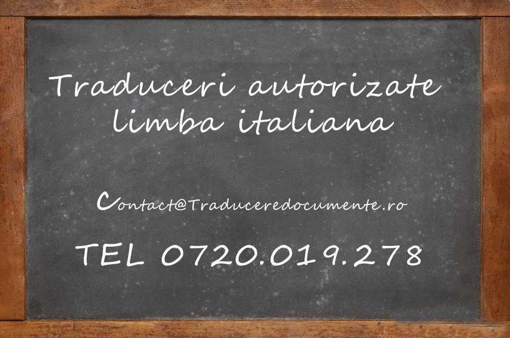 Traducere romana italiana