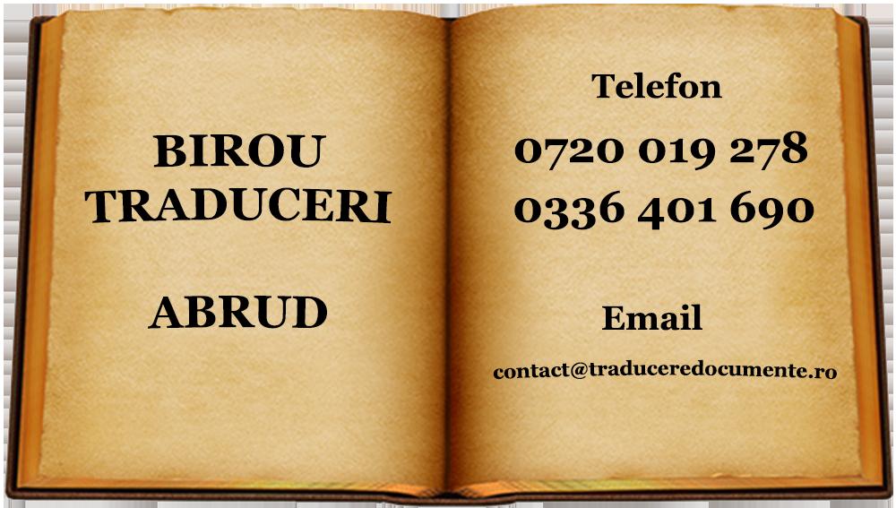 Birou traduceri Abrud