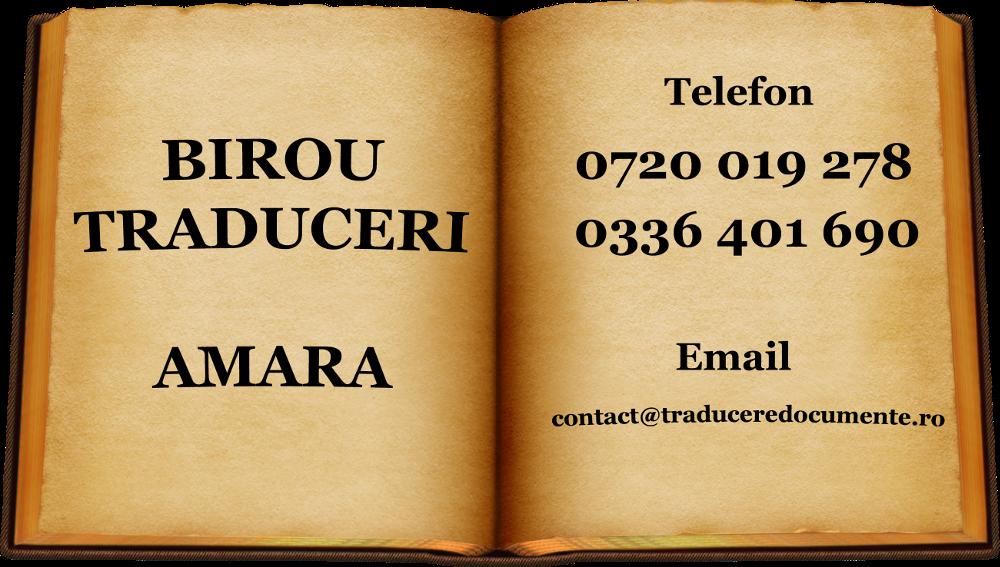 Birou traduceri Amara