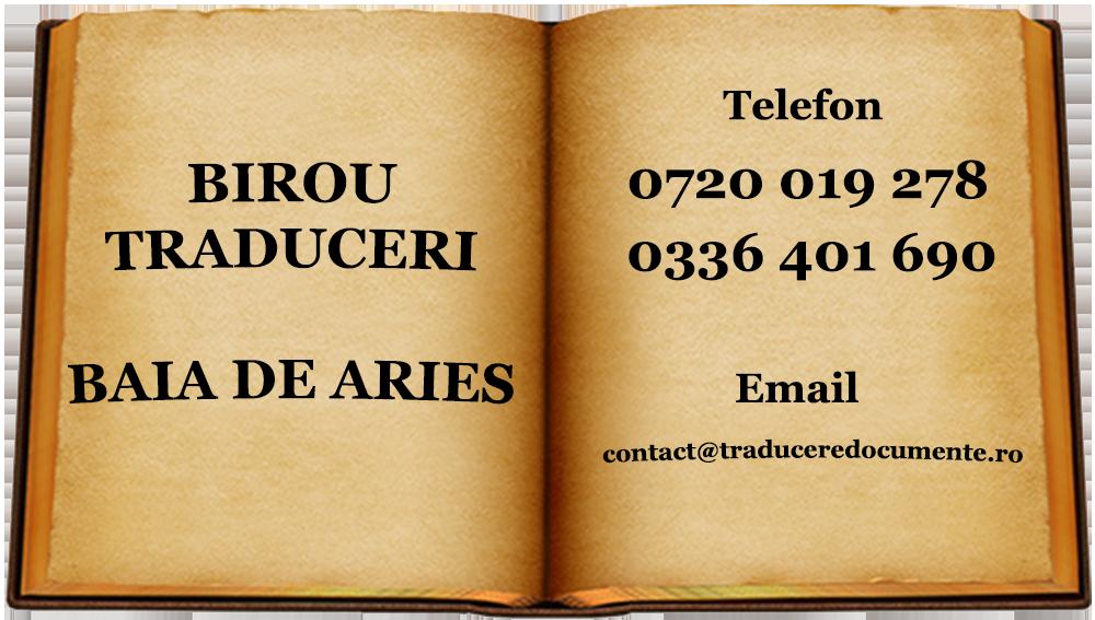 Birou traduceri Baia de Aries