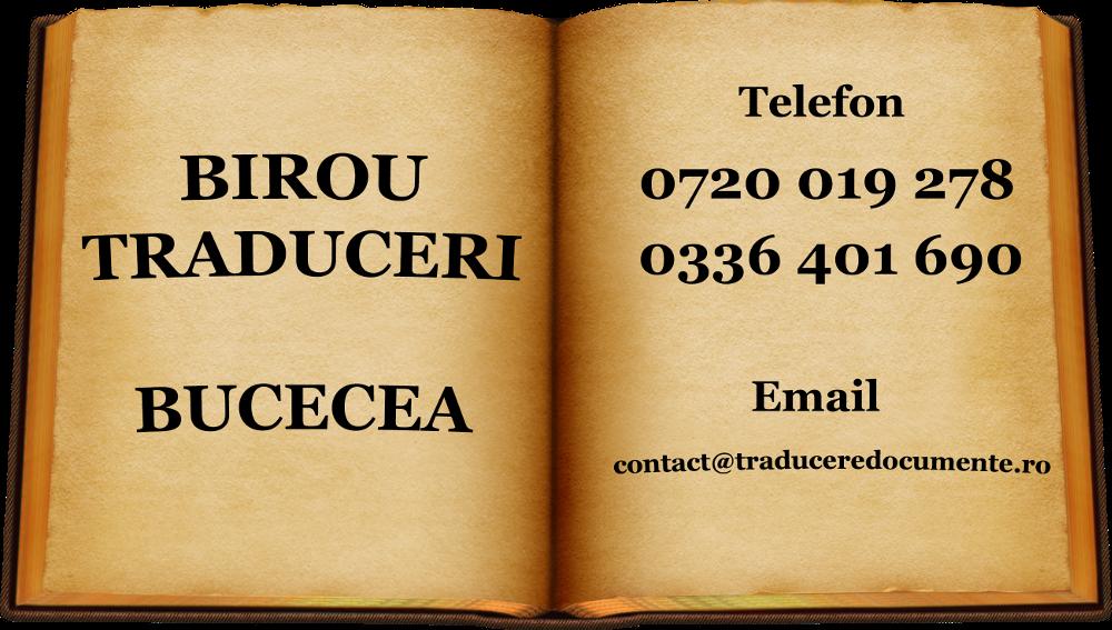 Birou traduceri Bucecea