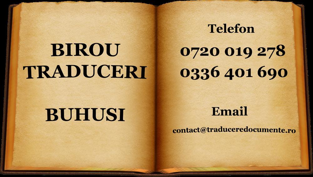 Birou traduceri Buhusi