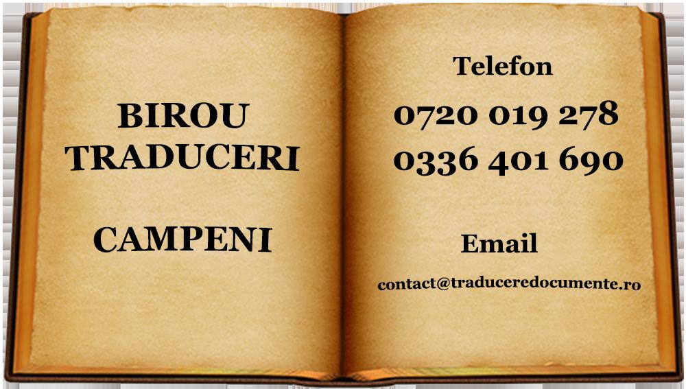 Birou traduceri Campeni