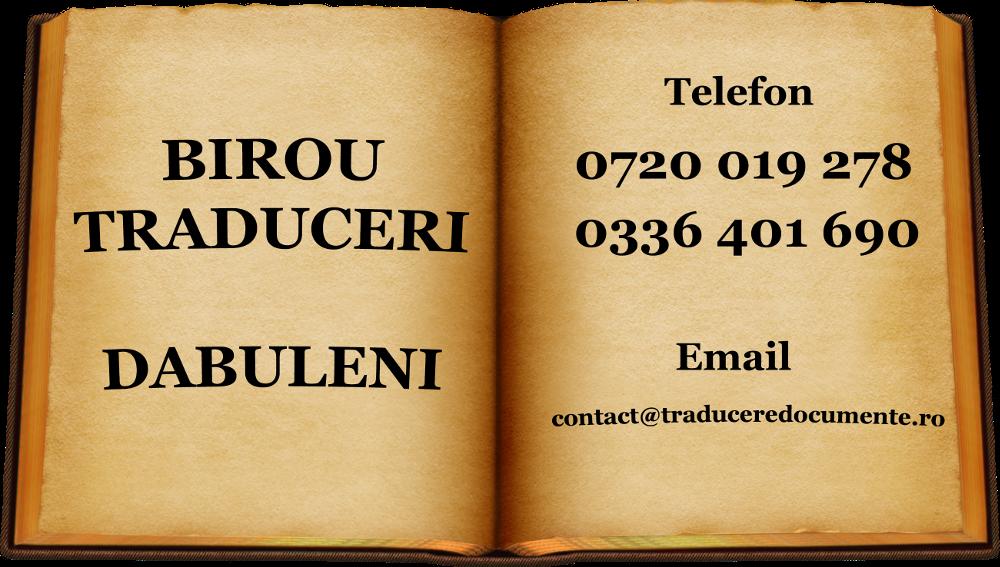 Birou traduceri Dabuleni