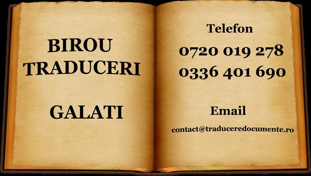 Birou traduceri Galati