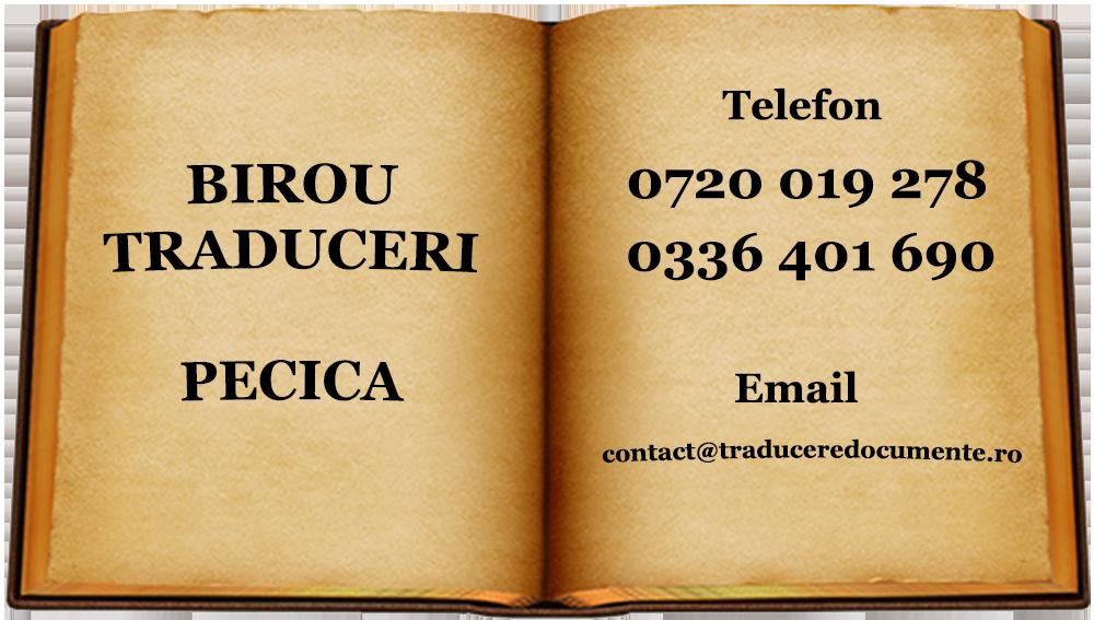 Birou traduceri Pecica