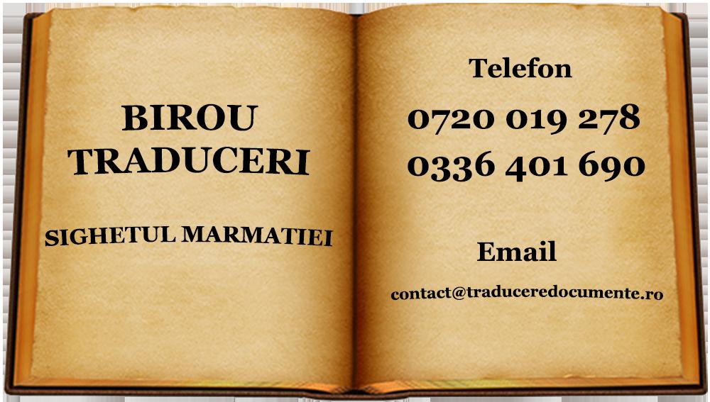 Birou traduceri Sighetul Marmatiei