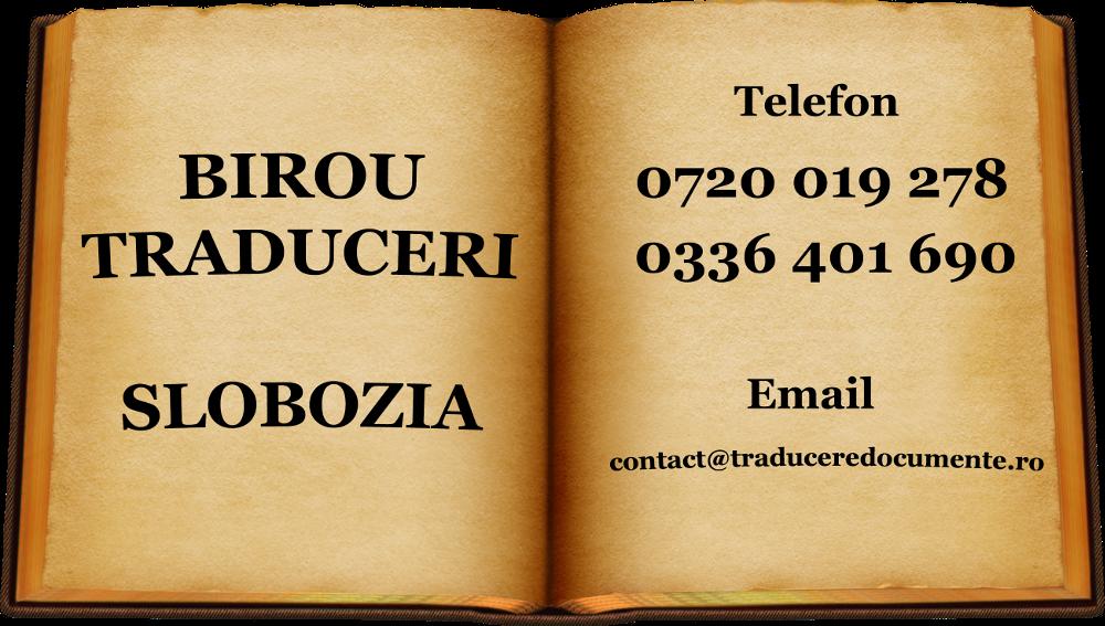 Birou traduceri Slobozia