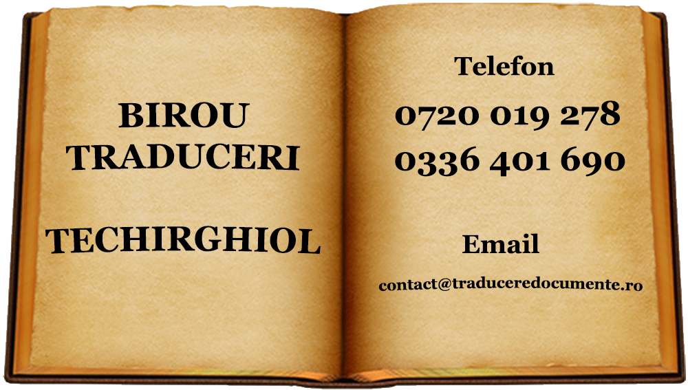 Birou traduceri Techirghiol
