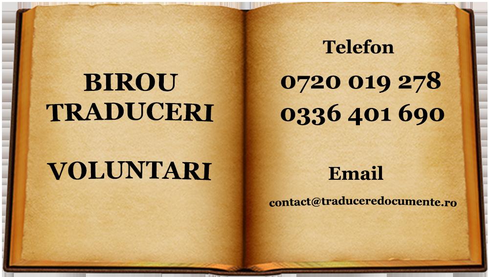 Birou traduceri Voluntari