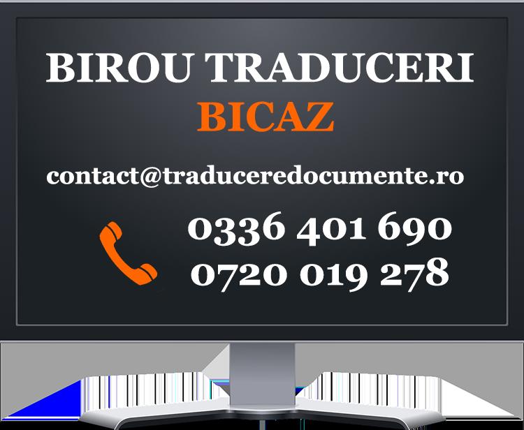 Birou traduceri Bicaz