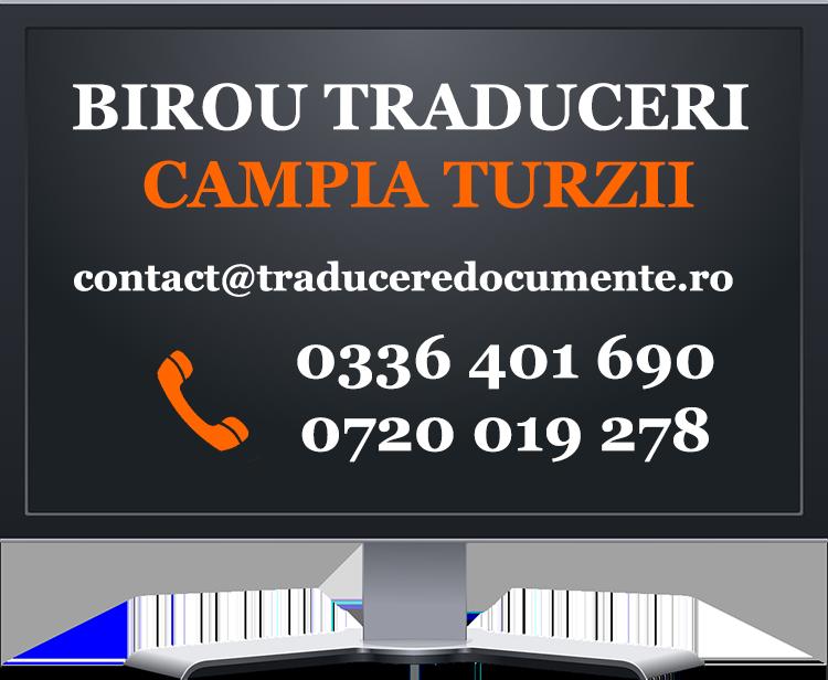 Birou traduceri Campia Turzii