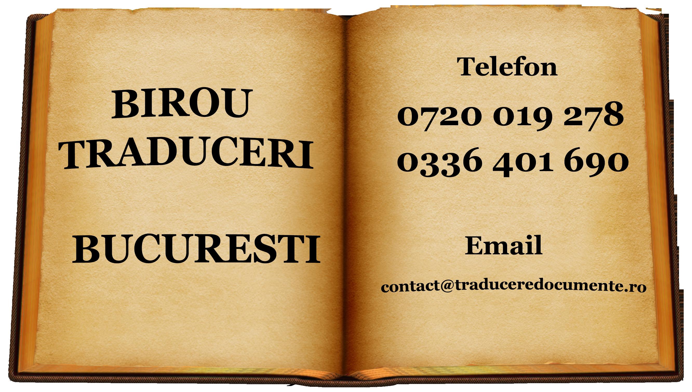 Birou traduceri Bucuresti