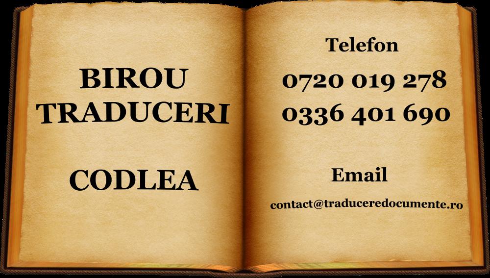 Birou traduceri codlea