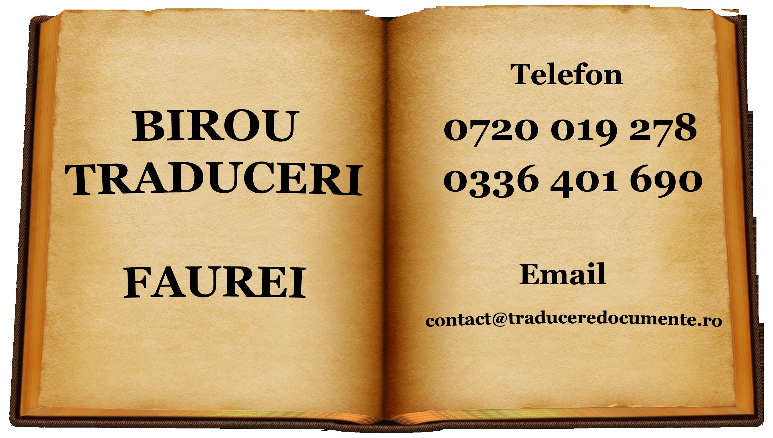 Birou traduceri Faurei
