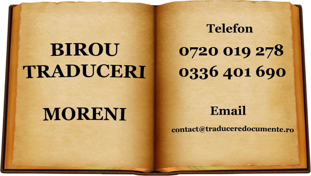 Birou traduceri Moreni