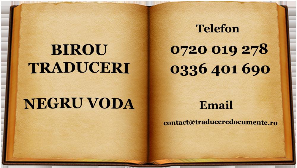 Birou traduceri Negru Voda