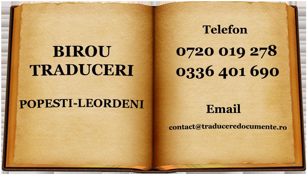 Birou traduceri Popesti-Leordeni