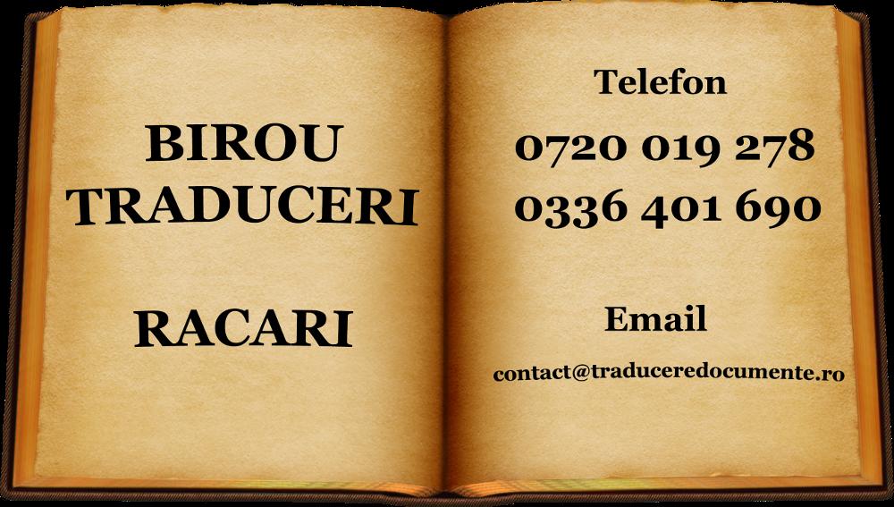Birou traduceri Racari