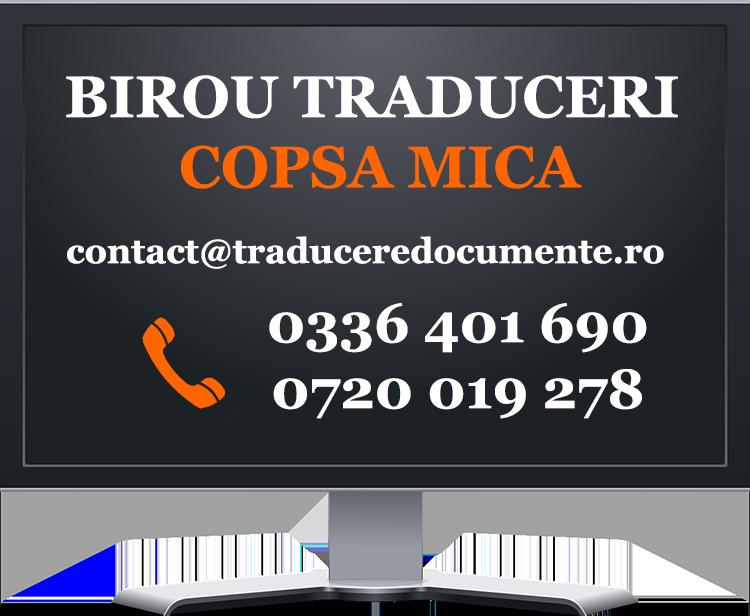 Birou traduceri Copsa Mica