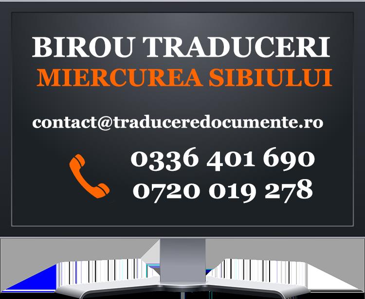 Birou traduceri Miercurea Sibiului