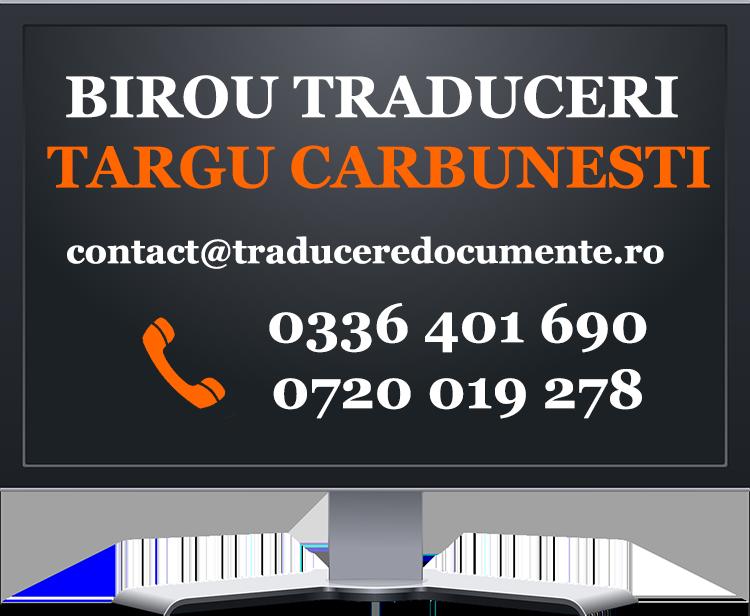 Birou traduceri Targu Carbunesti
